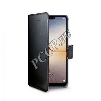 Huawei P20 Lite fekete oldalra nyíló flip tok
