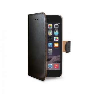 Apple iPhone 6 fekete bőr book tok