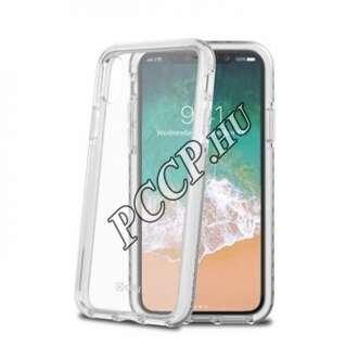 Apple Iphone X fehér keretű műanyag hátlap