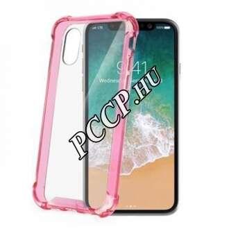 Apple Iphone X pink keretű hátlap