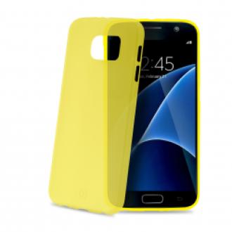 Samsung Galaxy S7 sárga ultravékony szilikon hátlap