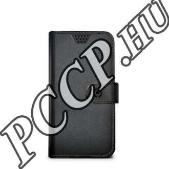 Apple Iphone 5 oldalra nyitható fekete flip bőr tok