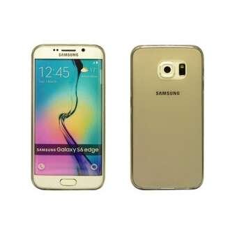 Samsung Galaxy S6 Edge fekete ultravékony szilikon hátlap