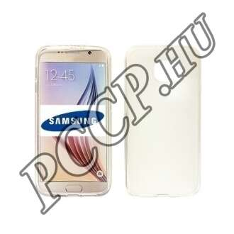 Samsung Galaxy S6 Edge átlátszó vékony szilikon hátlap