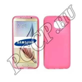Samsung Galaxy S6 Edge pink vékony szilikon hátlap