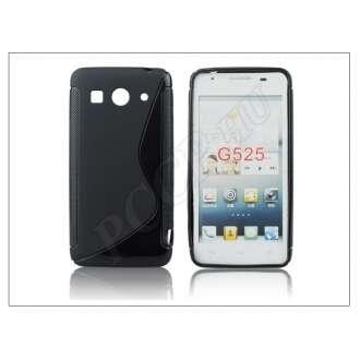 Huawei Ascend G525 fekete szilikon hátlap