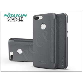 Huawei Honor 9 Lite fekete oldalra nyíló flip tok