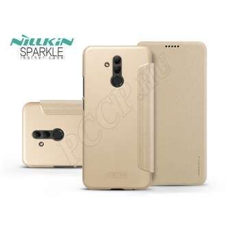 Huawei Mate 20 Lite arany oldalra nyíló flip tok
