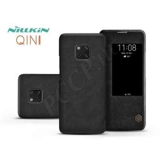 Huawei Mate 20 Pro fekete oldalra nyíló flip tok