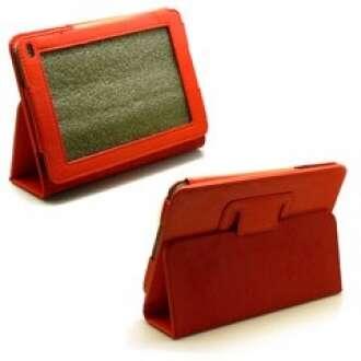 Huawei Media Pad 7 piros bőr tok