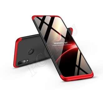 Huawei P Smart (2019) fekete/piros három részből álló védőtok