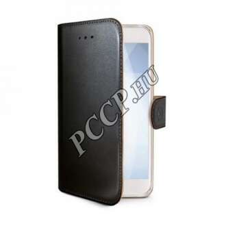 Huawei P-Smart fekete oldalra nyíló tok