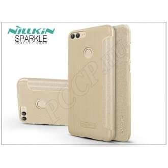 Huawei P Smart arany oldalra nyíló flip tok