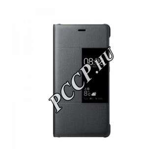 Huawei P10 sötétszürke book cover tok
