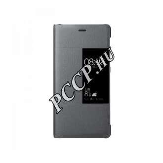 Huawei P10 világosszürke book cover tok