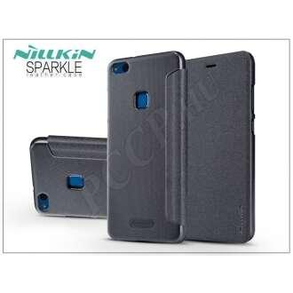 Huawei P10 Lite fekete oldalra nyíló flip tok