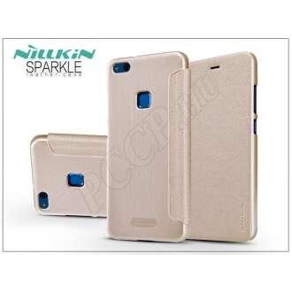 Huawei P10 Lite arany oldalra nyíló flip tok