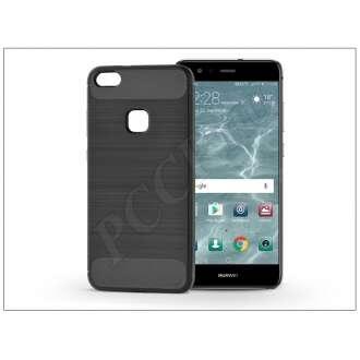 Huawei P10 Lite fekete szilikon hátlap