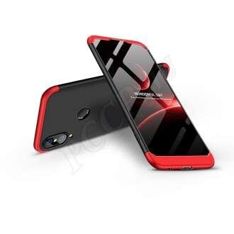 Huawei P20 Lite fekete/piros három részből álló védőtok
