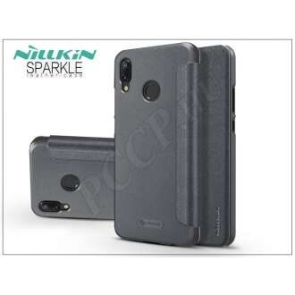 Huawei P20 Lite fekete oldalra nyíló flipes tok