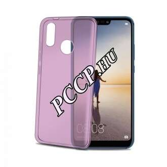 Huawei P20 Lite pink vékony szilikon hátlap