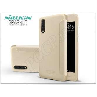 Huawei P20 arany oldalra nyíló flipes tok