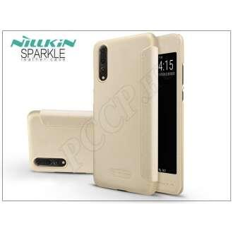 Huawei P20 Pro arany oldalra nyíló flipes tok