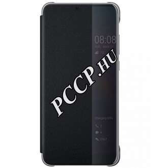 Huawei P20 fekete flip cover tok