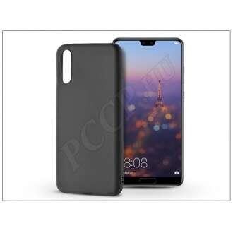 Huawei P20 fekete szilikon hátlap