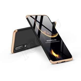 Huawei P30 fekete/arany három részből álló védőtok