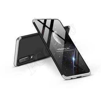 Huawei P30 fekete/ezüst három részből álló védőtok