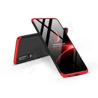 Huawei P30 fekete/piros három részből álló védőtok