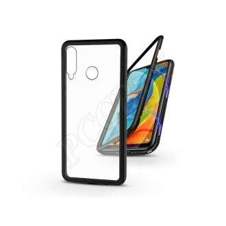 Huawei P30 Lite fekete mágneses 2 részes hátlap előlapi üveg nélkül