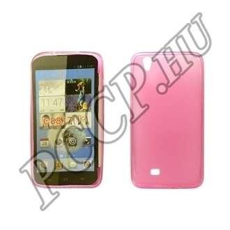 Huawei P8 pink vékony szilikon hátlap