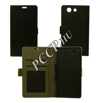 Huawei P9 fekete Lite flip oldalra nyíló tok