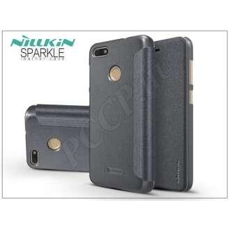 Huawei P9 Lite Mini fekete oldalra nyíló flip tok