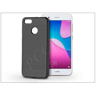 Huawei P9 Lite Mini fekete szilikon hátlap