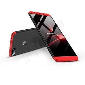 Huawei Y6 (2018) fekete/piros három részből álló védőtok