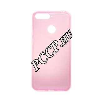 Huawei Y6 (2018) pink vékony szilikon hátlap