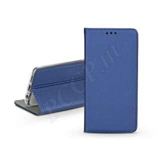 Huawei Y6 (2019) kék bőr flip tok