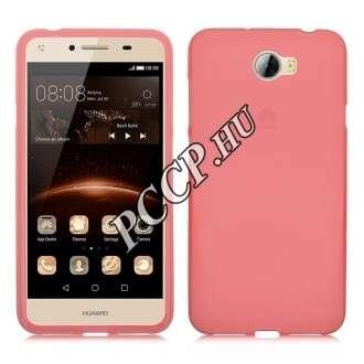 Huawei Y5 II pink vékony szilikon hátlap