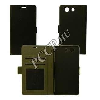 Huawei Y6 II fekete flip oldalra nyíló tok