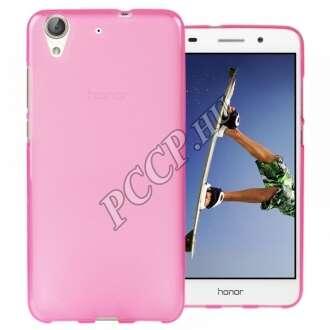 Huawei Y6 II pink vékony szilikon hátlap
