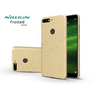 Huawei Y7 (2018) arany hátlap kijelzővédő fóliával