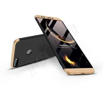 Huawei Y7 (2018) fekete/arany három részből álló védőtok