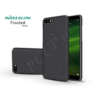 Huawei Y7 (2018) fekete hátlap kijelzővédő fóliával