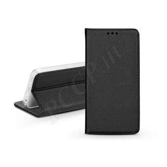 Huawei Y7 (2019) fekete bőr flip tok
