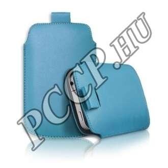 Apple Iphone 4S kék slim bőr tok