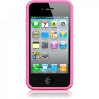 Iphone 4 pink szilikon keret