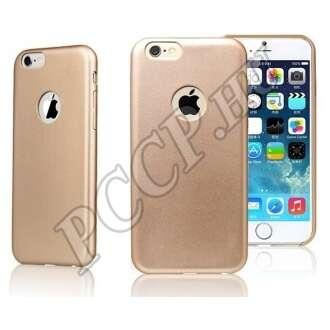 Apple Iphone 6 arany bőrhatású műanyag hátlap